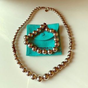 Tiffany & Co. graduated ball necklace and bracelet
